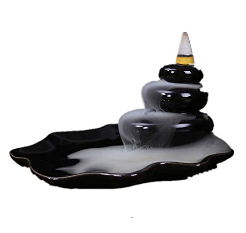 冷笑するブローホール桃XPPXPP Backflow Incense Burner, Household Ceramic Returning Cone-shaped Candlestick Burner