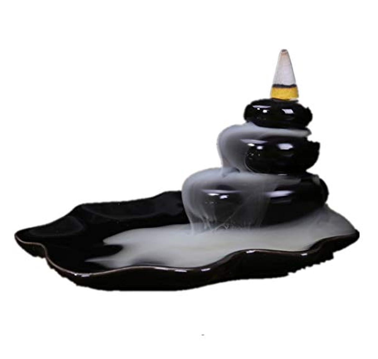 コンサートカール不振XPPXPP Backflow Incense Burner, Household Ceramic Returning Cone-shaped Candlestick Burner