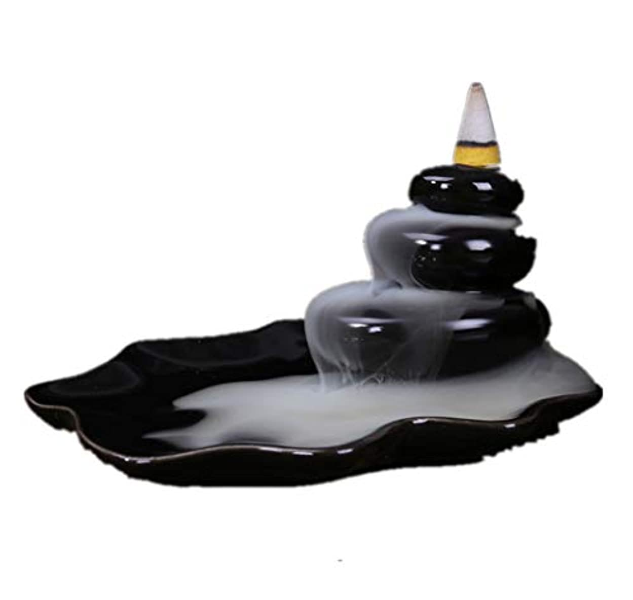 生物学食器棚完了XPPXPP Backflow Incense Burner, Household Ceramic Returning Cone-shaped Candlestick Burner