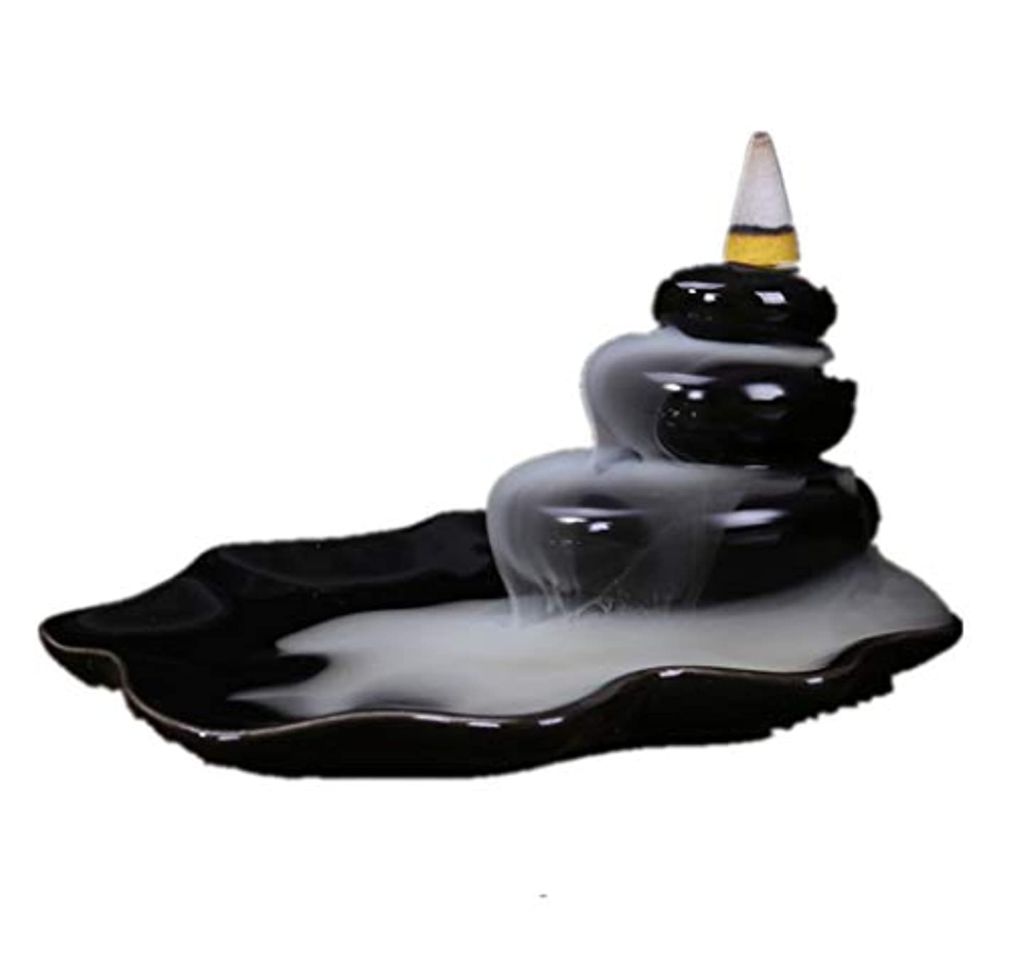 省略ペレグリネーション胃XPPXPP Backflow Incense Burner, Household Ceramic Returning Cone-shaped Candlestick Burner