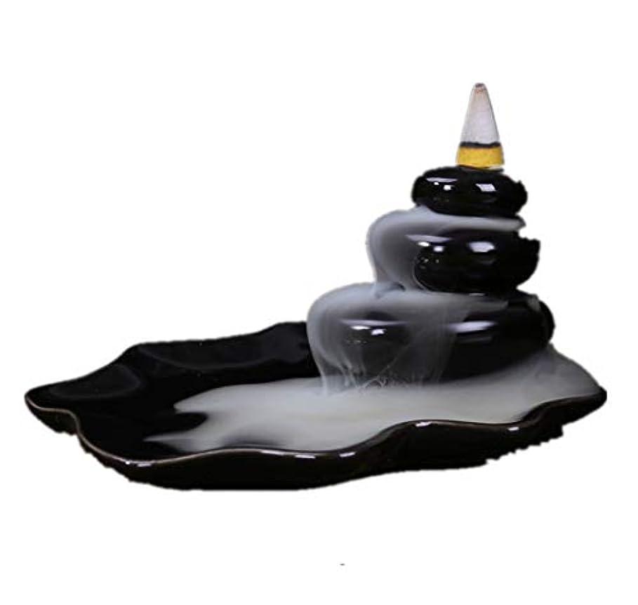 確かなよりバウンドXPPXPP Backflow Incense Burner, Household Ceramic Returning Cone-shaped Candlestick Burner