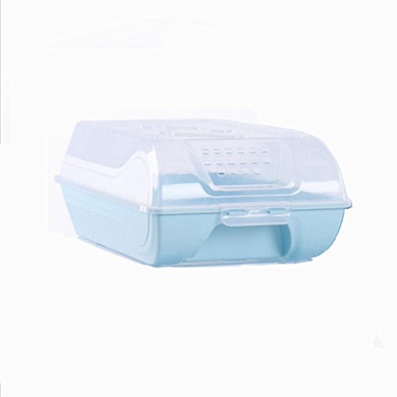 靴収納ボックス 収納ボックス 靴箱 収納箱 くつ収納 シューズケース 大容量 透明 靴入れ 便利 (青)