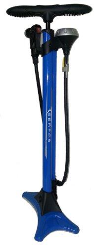 SERFAS(サーファス) FP-200 フロアポンプ 空気入れ 仏式/米式/英式バルブ対応 ゲージ付 ブルー 046714