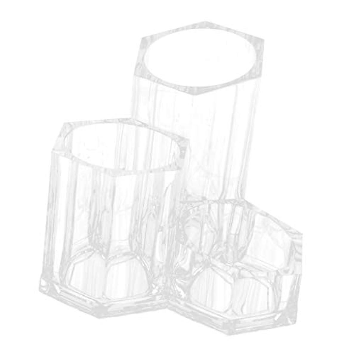 dailymall コスメブラシケース アクリル収納 メイクブラシケース リップスティック収納 化粧筆 立て 透明