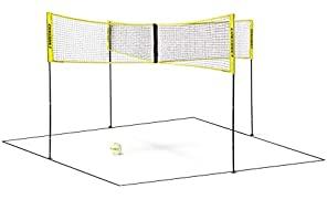 Crossnet CROSSNET101 4 Way Adjustable Volleyball Net and Volleyball Game Set