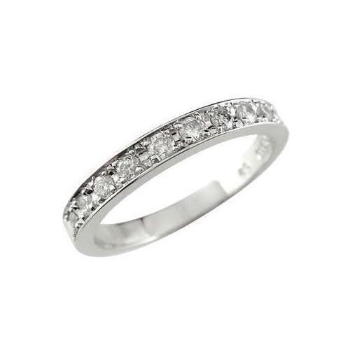[アトラス] Atrus ダイヤモンドリング 0.20ct ホワイトゴールドK18 エタニティータイプリング リング 指輪 K18WG 18金 結婚記念 リング 指輪 17号