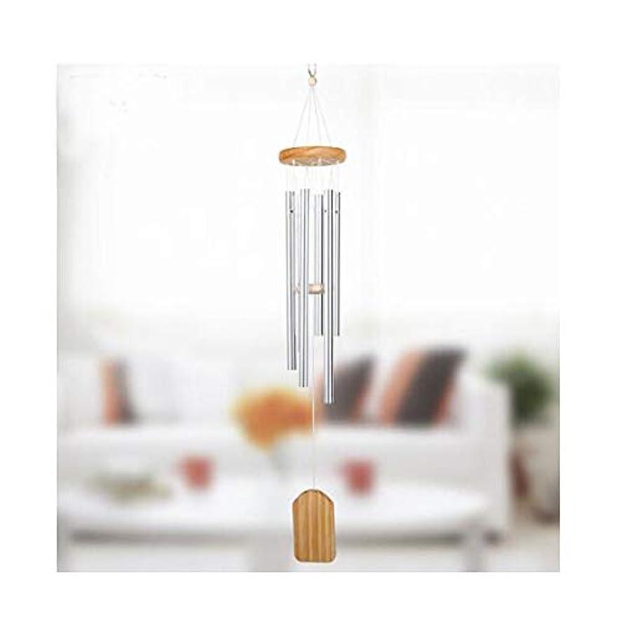 覆すアルカイック扇動風チャイム、ソリッドウッドメタル6チューブ風の鐘、ホームデコレーション、ベッドルームデコレーション風チャイム (Size : 60cm)