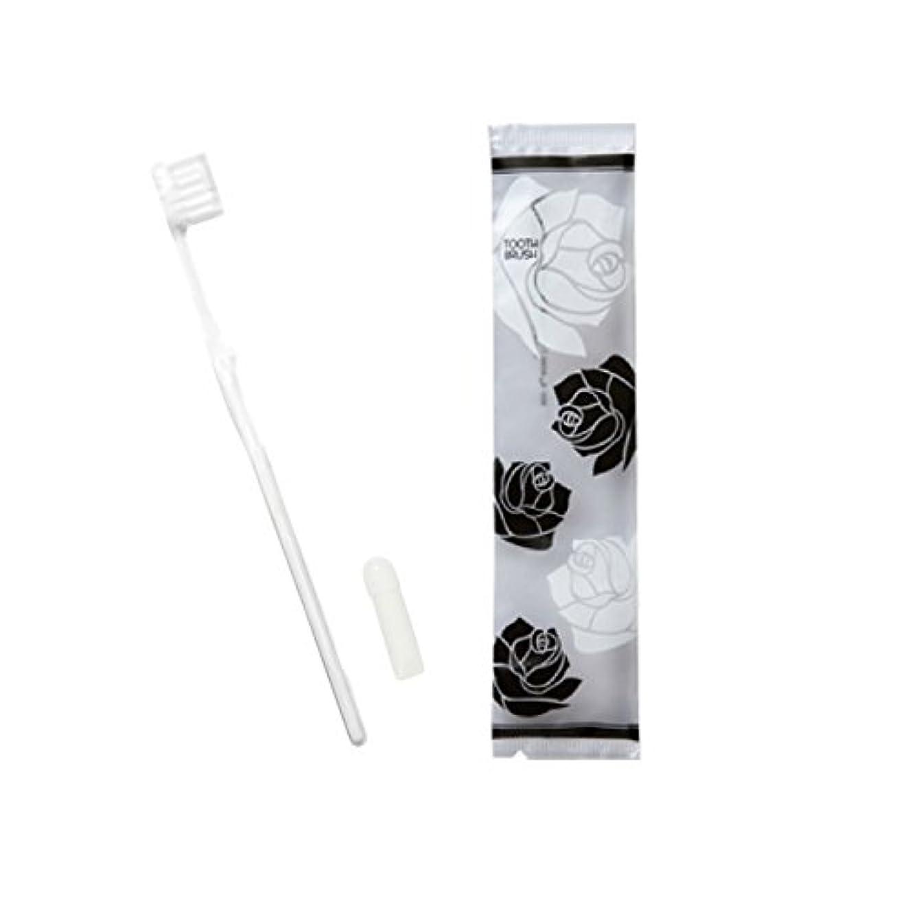 刃見かけ上印象的なローゼス ホテル業務用ハブラシ(白)21穴 3gチューブ 50本