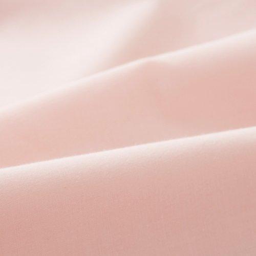 エムール 綿100% ワンタッチシーツ ダブル 「プレッソ」 日本製 ピンク