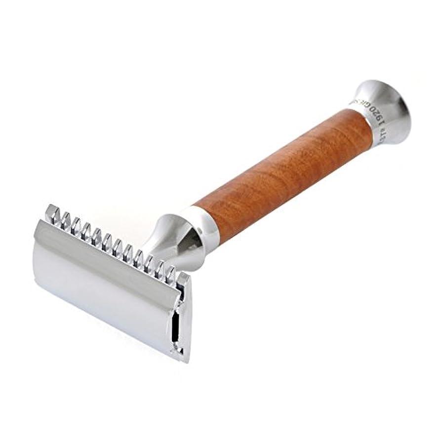 シーン彫刻姪G&F - Vintage Edition Safety razor, Thuja burl wood, 10 razor blades