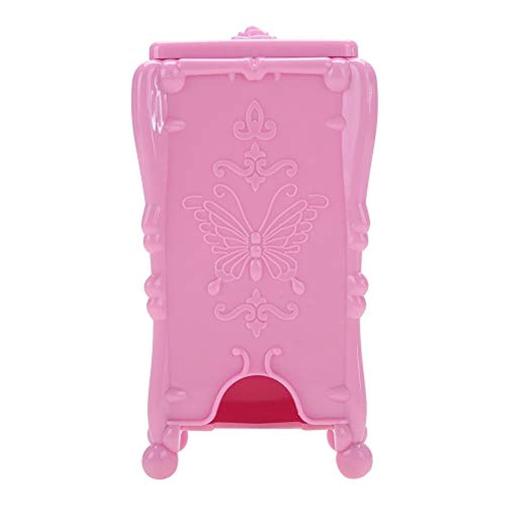 混沌小さい再生ネイルツール 収納ボックス ネイルアートワイプオーガナイザー 化粧コットン(01#)