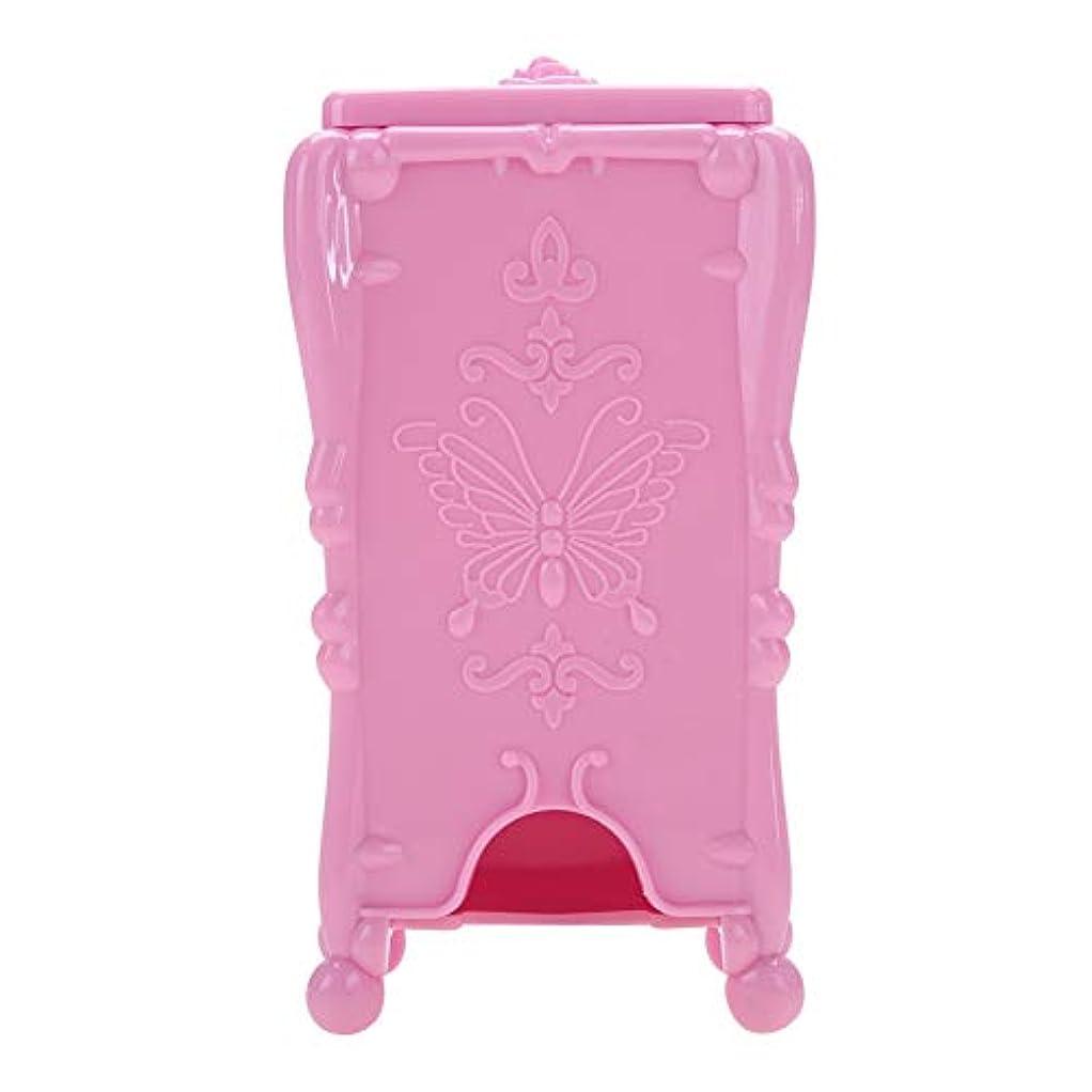 ネイルツール 収納ボックス ネイルアートワイプオーガナイザー 化粧コットン(01#)