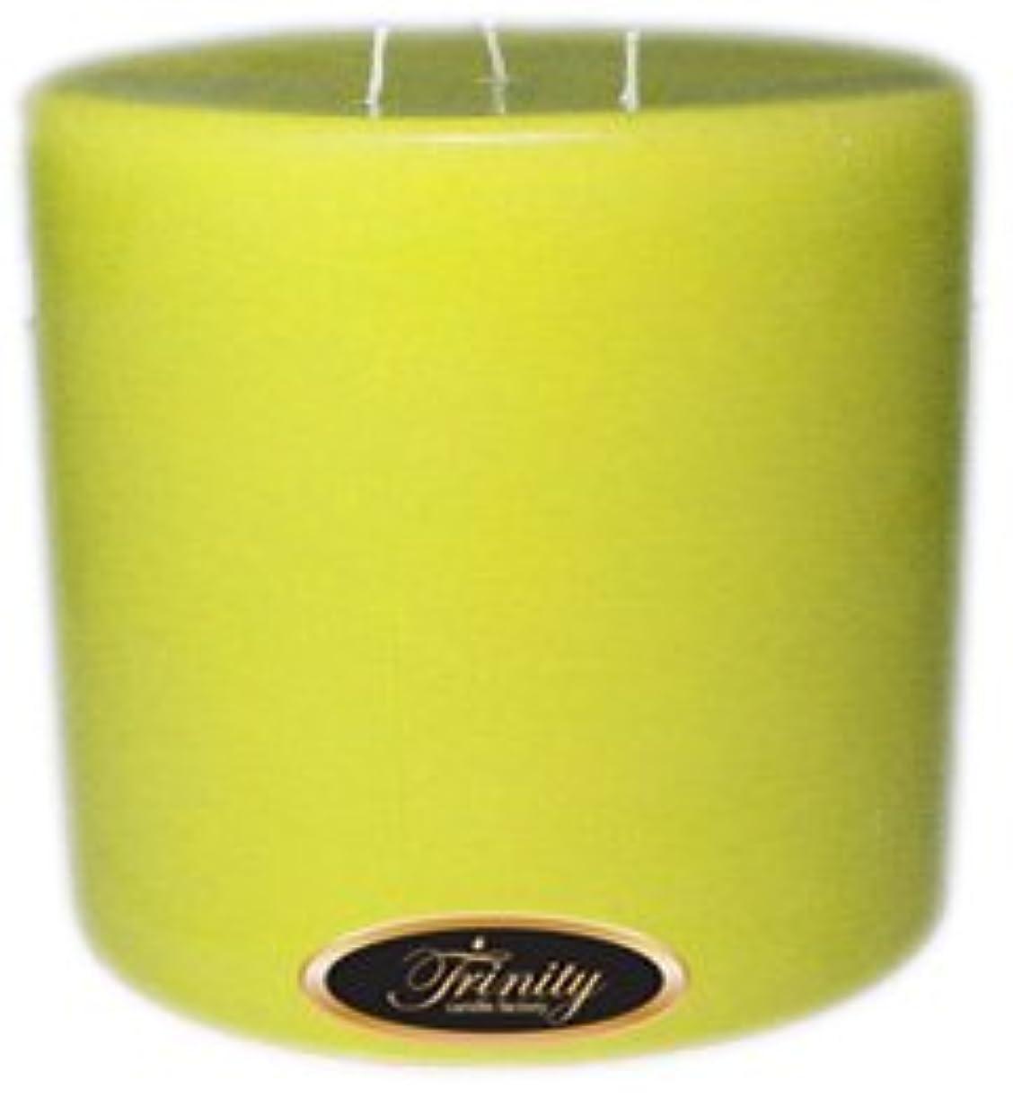 ピグマリオンジャンプする妊娠したTrinity Candle工場 – レモンシフォン – Pillar Candle – 6 x 6