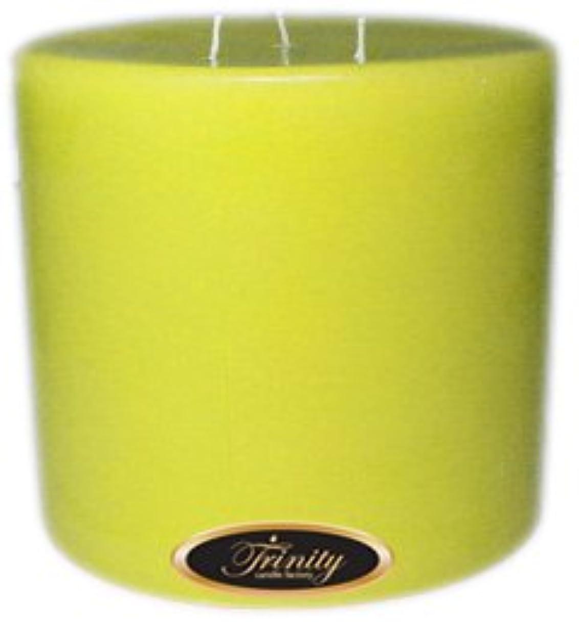 その後アマチュアソファーTrinity Candle工場 – レモンシフォン – Pillar Candle – 6 x 6