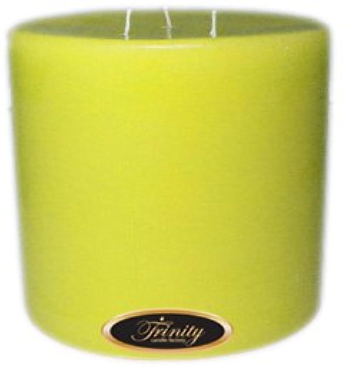 人気の半球美的Trinity Candle工場 – レモンシフォン – Pillar Candle – 6 x 6