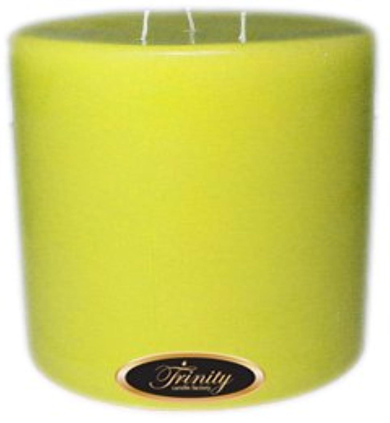 カフェ発揮する大騒ぎTrinity Candle工場 – レモンシフォン – Pillar Candle – 6 x 6