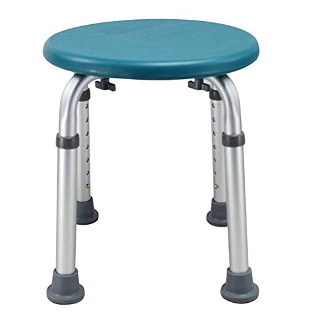 スラッシュぬれた僕のラウンドバスシートまたはシャワースツール、調整可能な高さのバスシートベンチ高齢者用入浴補助 (Color : 緑)