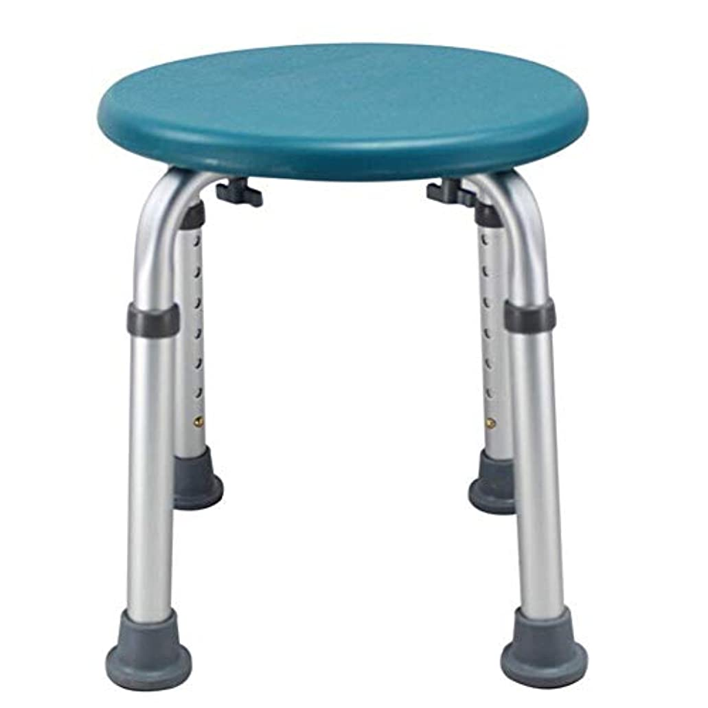 首尾一貫した立法パイプラインラウンドバスシートまたはシャワースツール、調整可能な高さのバスシートベンチ高齢者用入浴補助 (Color : 緑)