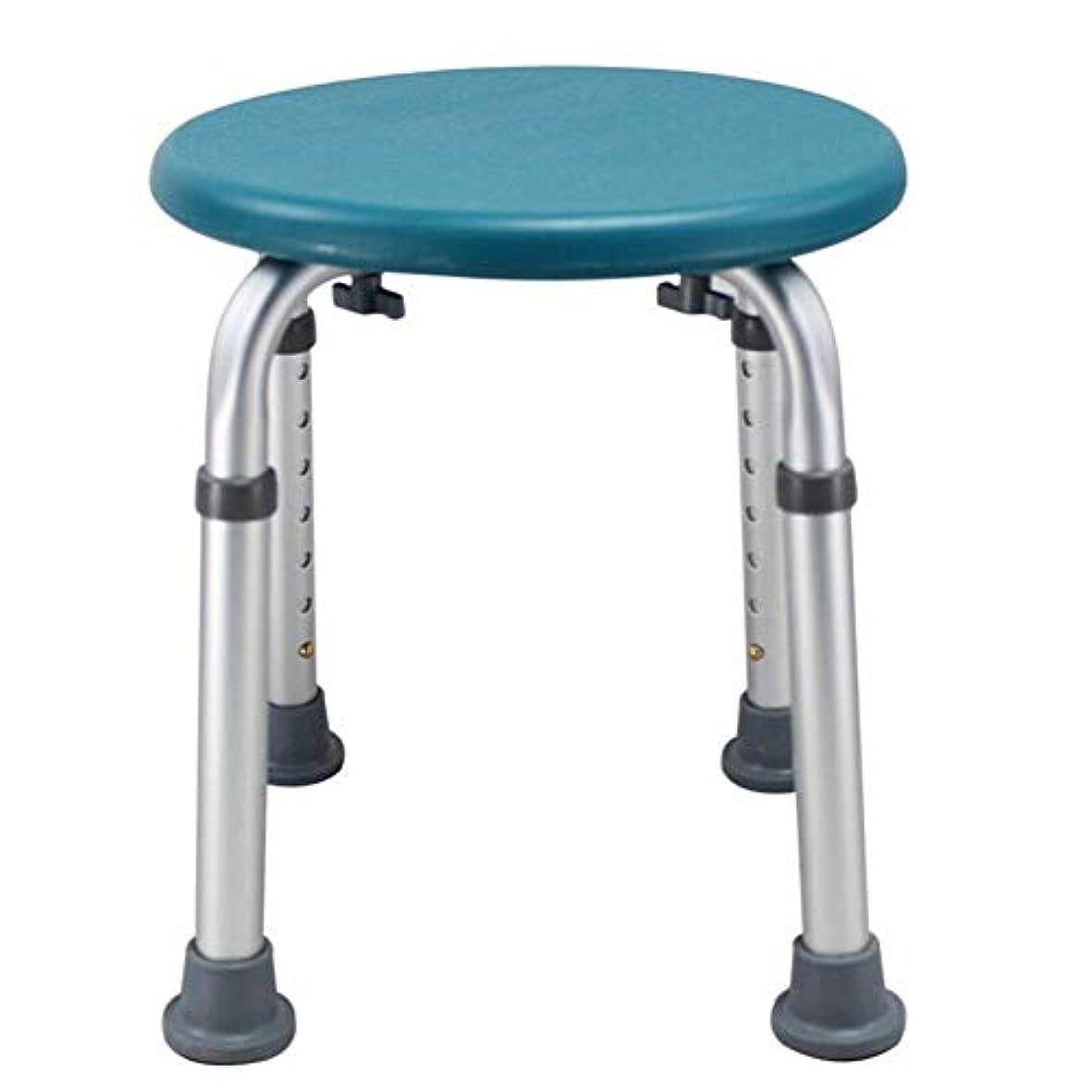 患者辞書ニュージーランドラウンドバスシートまたはシャワースツール、調整可能な高さのバスシートベンチ高齢者用入浴補助 (Color : 緑)