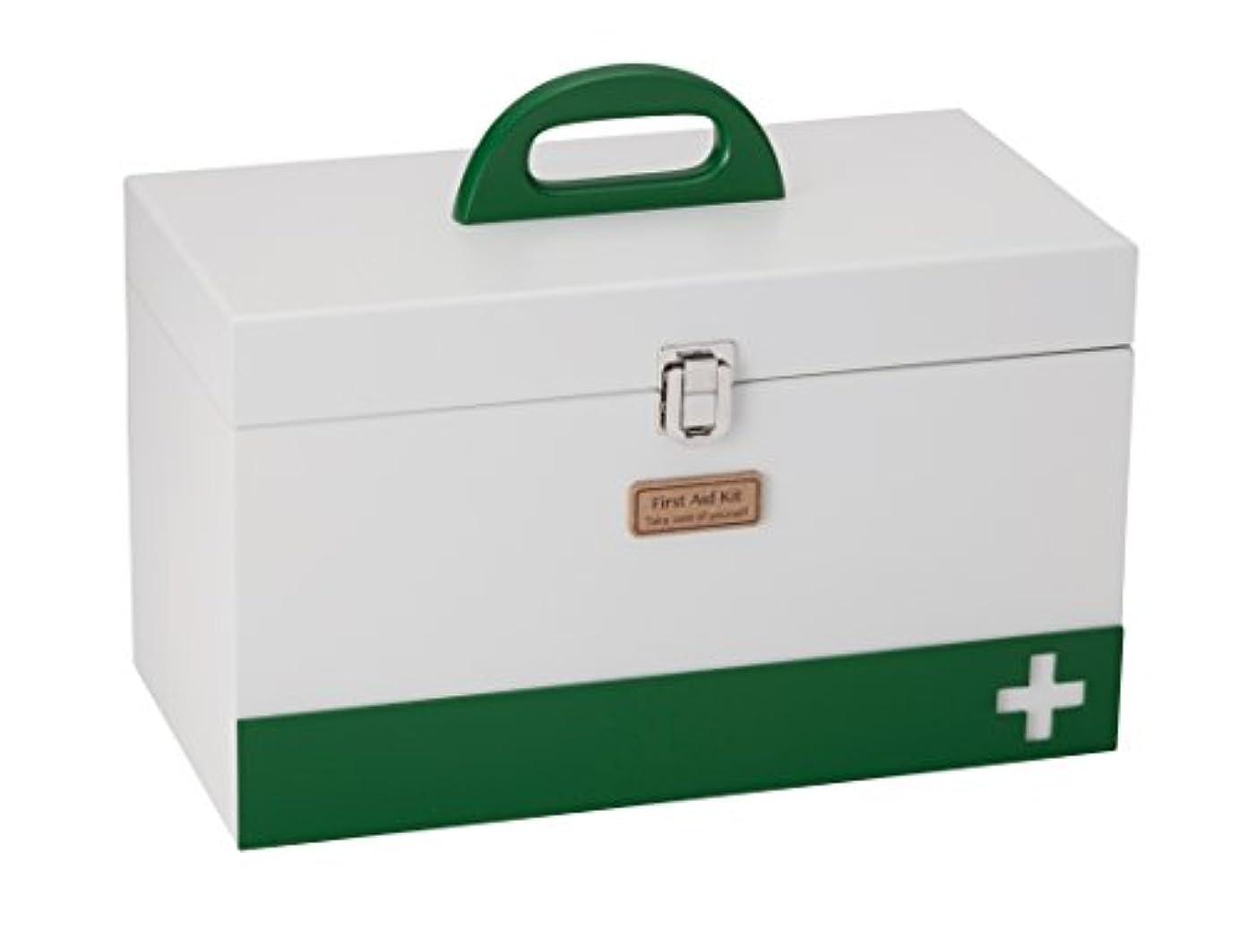 群れ実現可能性具体的にイシグロ デザイン小物 ホワイト 34×25.5×18.4㎝ 救急箱 救急車L 60058
