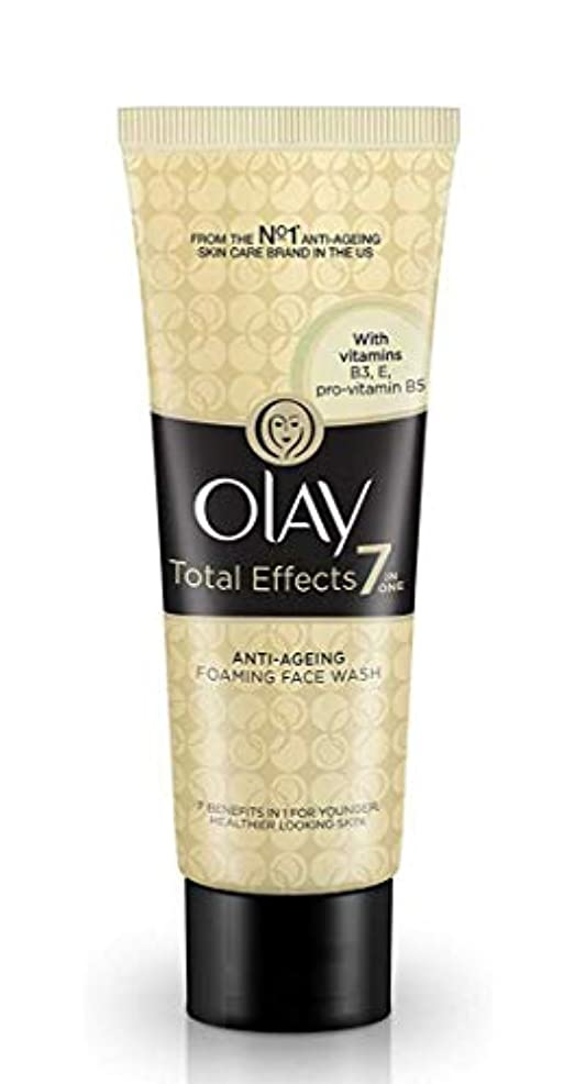 OLAY Total Effects 7in ONE ANTI-AGEING FOAMING FACE WASH 【VITAMINS B3 E B5】 100g [並行輸入品]