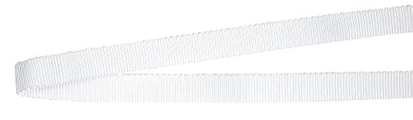乗って宿謝罪ベルアート グログランリボン ポリエステル 15mm巾 4mカット Col.01 白 AZBEL-9990