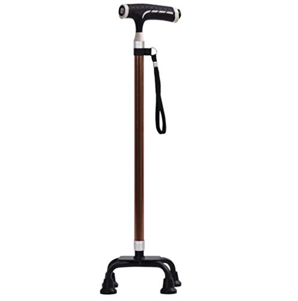 欠乏驚かりてLEDライト老人用松葉杖杖アルミ合金伸縮老人杖ステッキ多機能ステッキスティック、男女兼用