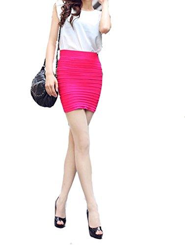 Jewelry_Awesome シンプル ストレッチ コットン ミニスカート ベーシック スカート