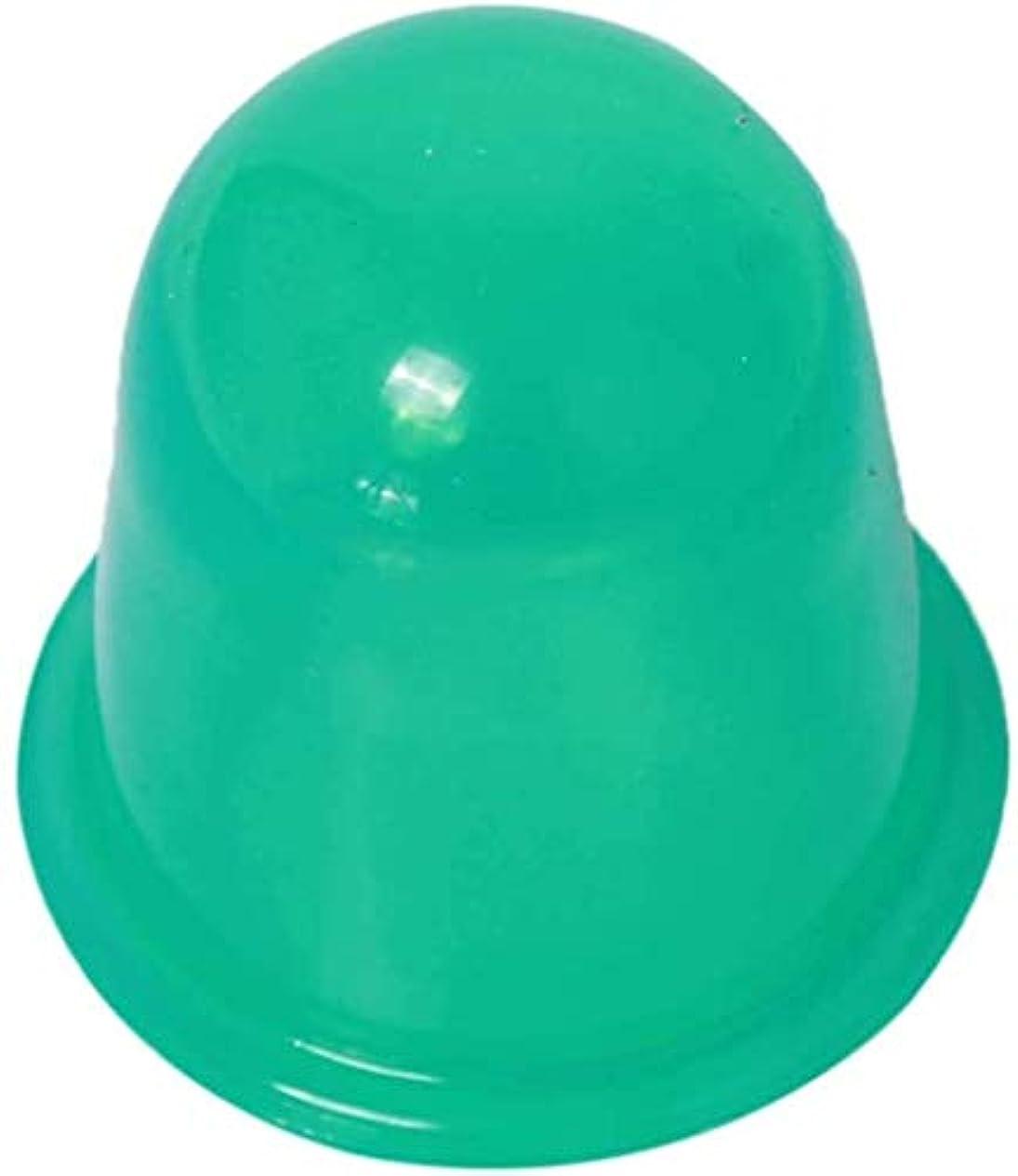 繊維風刺建てるシリコーンカップ、浚渫経絡をカッピングカッピングデバイス、シリコンカッピングデバイス、バキューム、痛みを緩和し、血液循環を促進 (Color : 緑, Size : 2pcs)