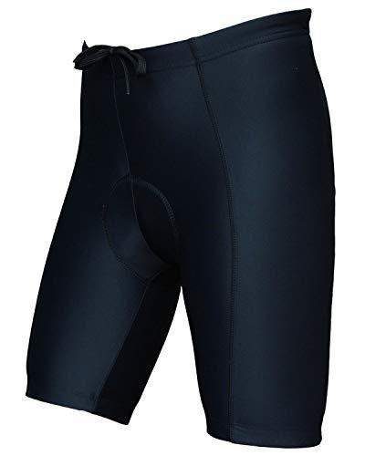 Wellcls(ウェルクルズ) メンズ 3Dゲルパッド付 レーサーパンツ ひざ上丈 自転車 サイクリング 黒 S(68-74cm)