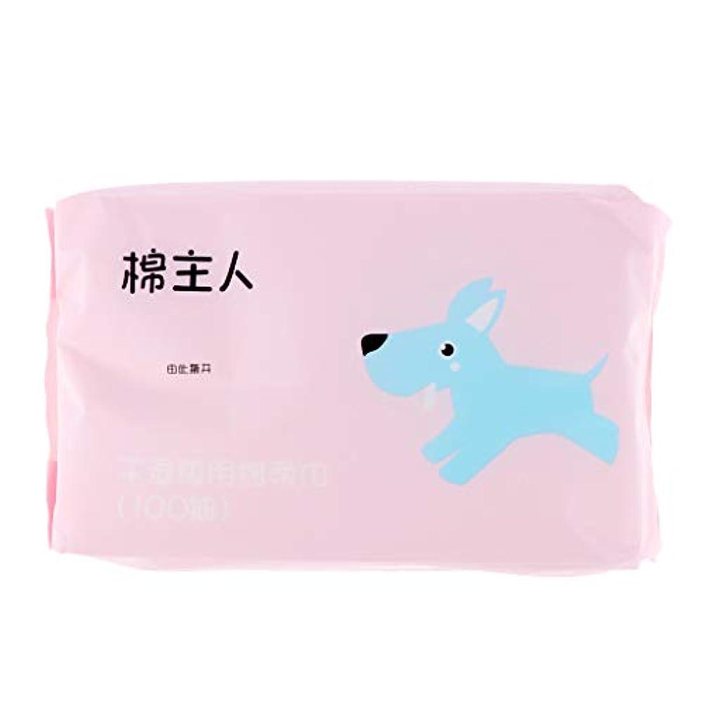 合成徒歩でトリクル約100枚 使い捨て クレンジングシート メイク落とし 化粧品 ソフト 2色選べ - ピンク