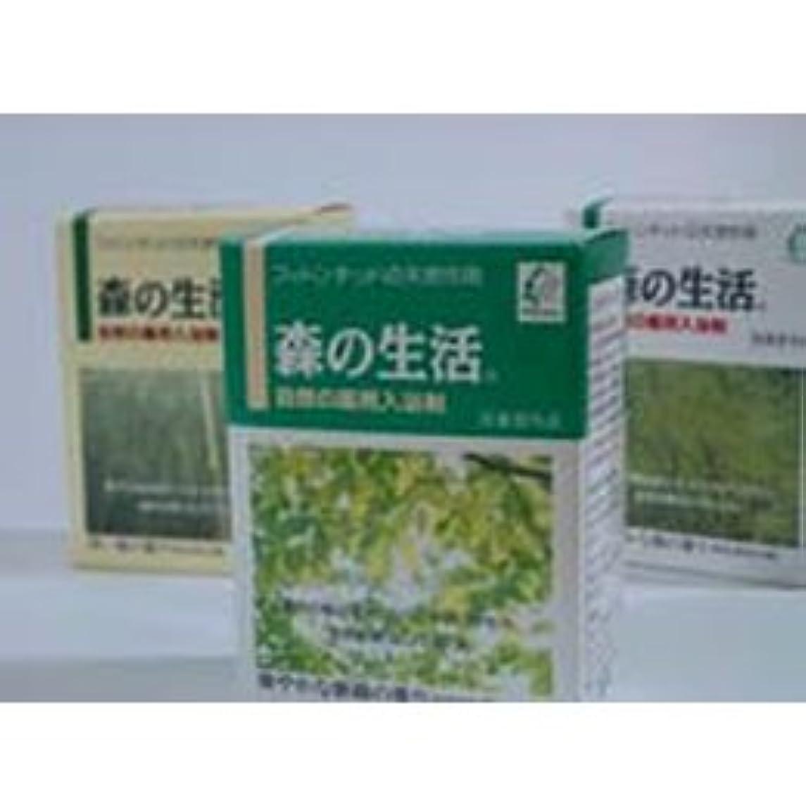 一元化するポイント睡眠森の生活 自然の薬用入浴剤 無色透明の湯 25g×6包