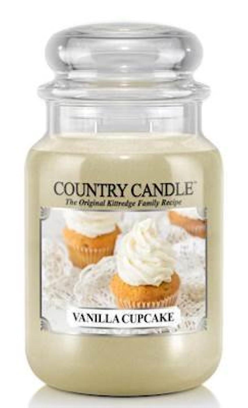 プーノ勢い高揚したバニラカップケーキCountry Candle Large 23oz 2-wick香りつきJar Candle