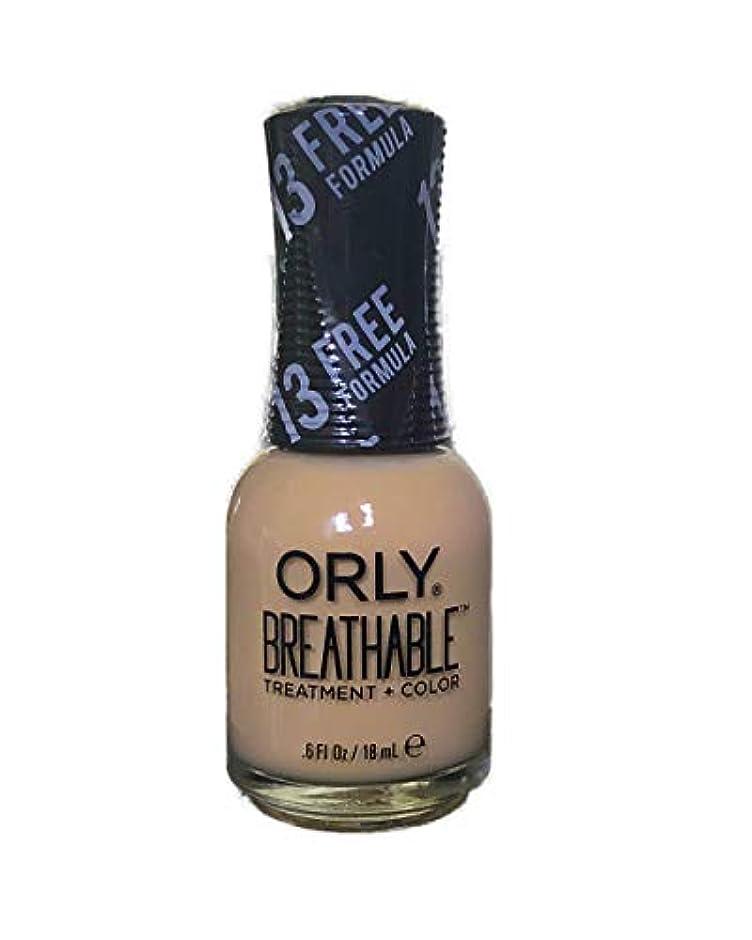 ファイル脚本牧草地Orly Breathable Nail Lacquer - Treatment + Color - You Go Girl - 0.6 oz / 18 mL