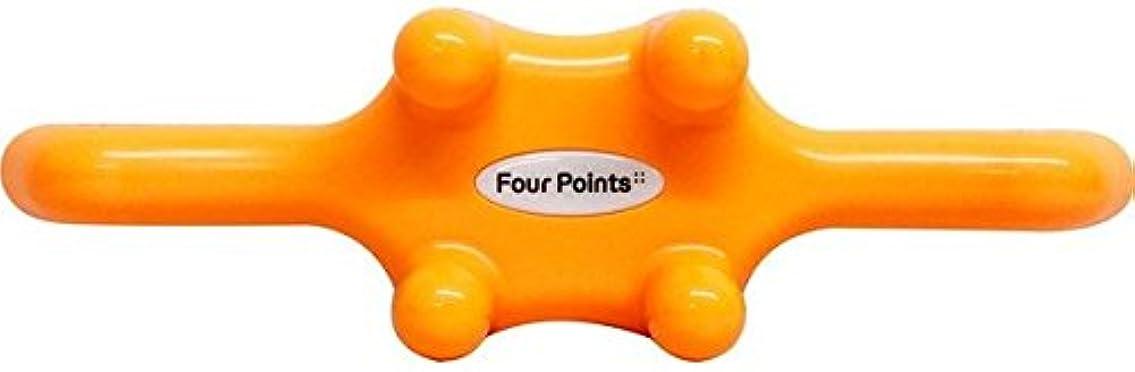 定期的な予防接種する滑りやすいフォーポインツ Four Points オレンジ(全5色) 筋膜リリース 肩こり解消グッズ 腰痛改善グッズ 頭 首 背中 脚 ふくらはぎ 足裏 ツボ押し マッサージ グッズ