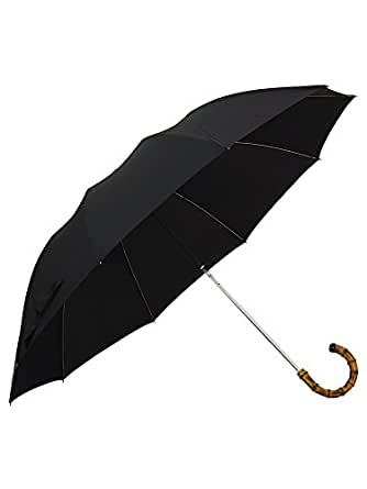 (フォックスアンブレラズ) FOX UMBRELLAS メンズ 折りたたみ傘 ブラック TEL4 WHANGHEE CROOK HANDLE BLACK [並行輸入品]