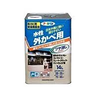 水性外カベツヤ消し クリーム色 14L【代引不可】 〈簡易梱包