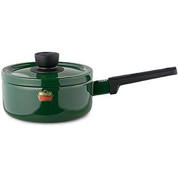 富士ホーロー 片手鍋 ソースパン ソリッド 18cm グリーン SD-18S・G