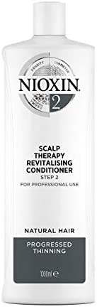 Nioxin System 2 Scalp Therapy Revitalising Conditioner for Natural Hair with Progressed Thinning, 1L