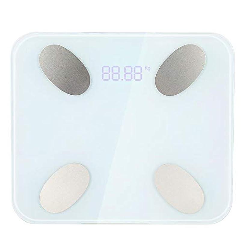 排気影感情のSemme体構成スケール、多機能正確なバスルームスケールスマートフォンのAPPで体脂肪Blanceデジタル体重スケール体重、脂肪、水分、筋肉量、骨量ですばやく測定