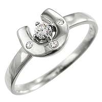 [スカイベル] 天然ダイヤモンド プラチナ900 リング 馬蹄 レディース 約0.14ct リングサイズ 17.5号