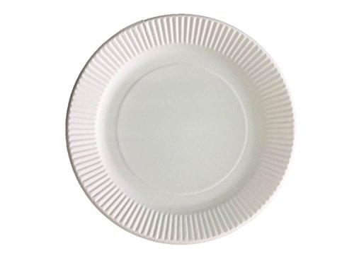 【業務用】電子レンジOK! 紙皿・プレート18cm 100枚入