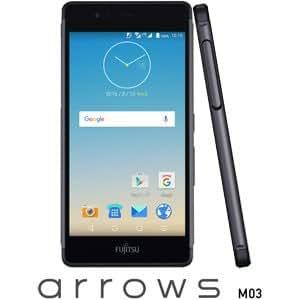 富士通 SIMフリースマートフォン arrows M03(ブラック) FARM06105(M03ブラツク)