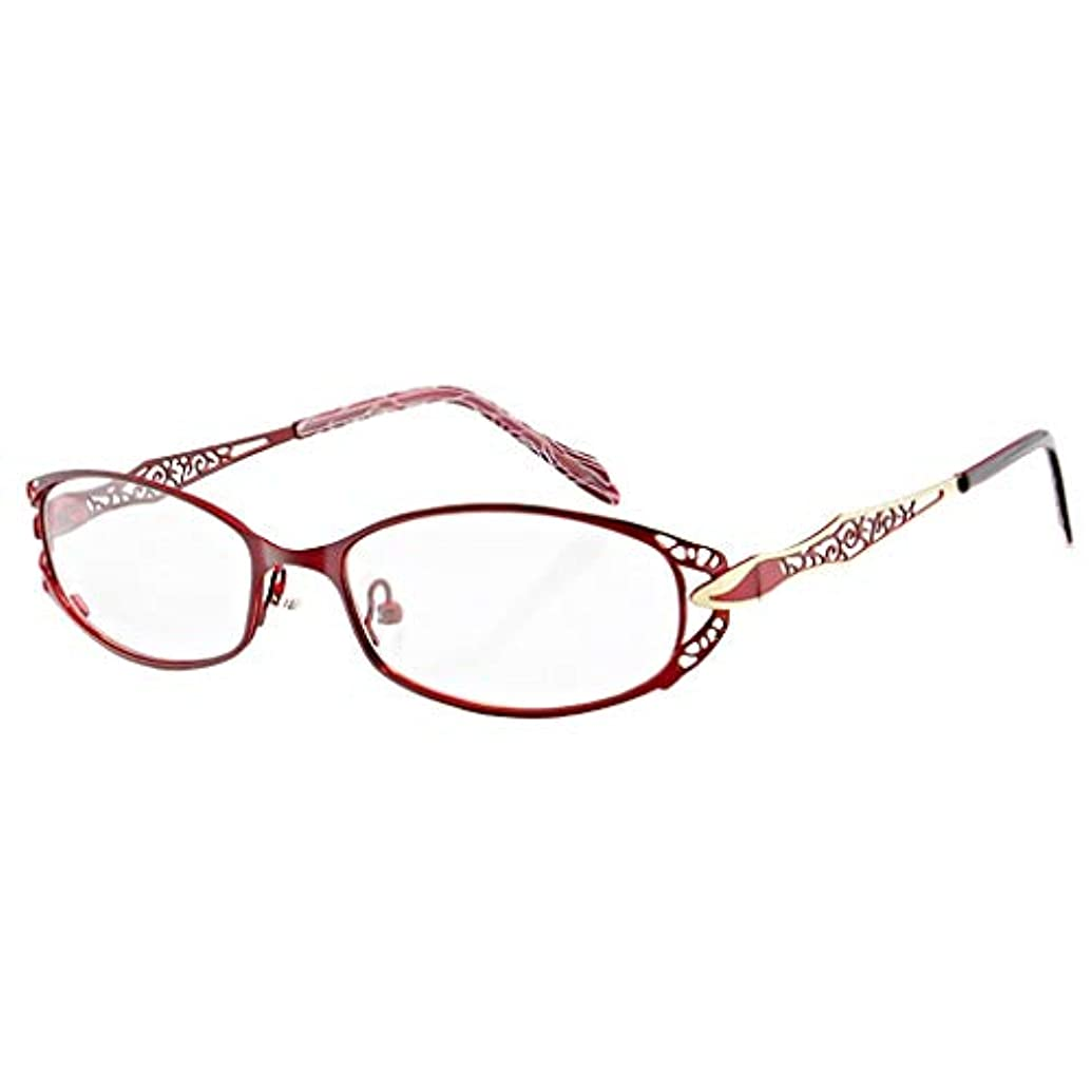 LCSHAN 遠近両用兼用老眼鏡メンズHDコンフォートウルトラライトオートズームインテリジェントアンチブルーライト (Color : Red, Size : 100 degrees)