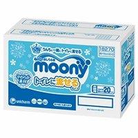 ムーニーおしりふき トイレに流せるやわらか素材 詰め替え用 50枚×20個パック(1000枚)