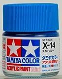 タミヤカラー アクリルミニ X-14 スカイブルー 光沢