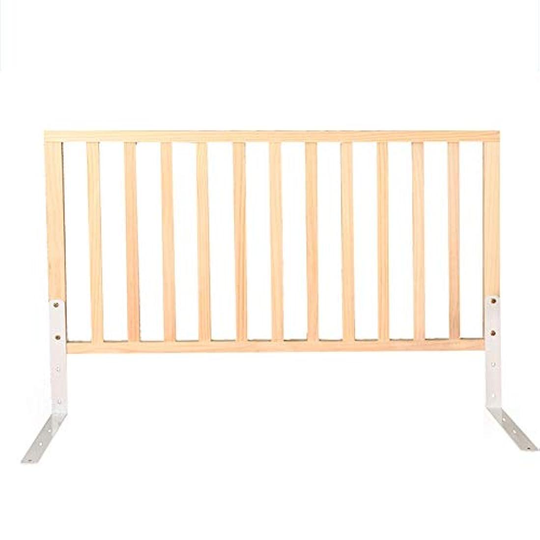 詳細な果てしない有害Xyanzi-ガードレールフェンス 幼児のガードレール、純木のベッドの柵の監視高さ調節可能なスラット及びBoxspringのための普遍的な適合(サイズ:150cm) (色 : A, サイズ さいず : 90センチメートル)