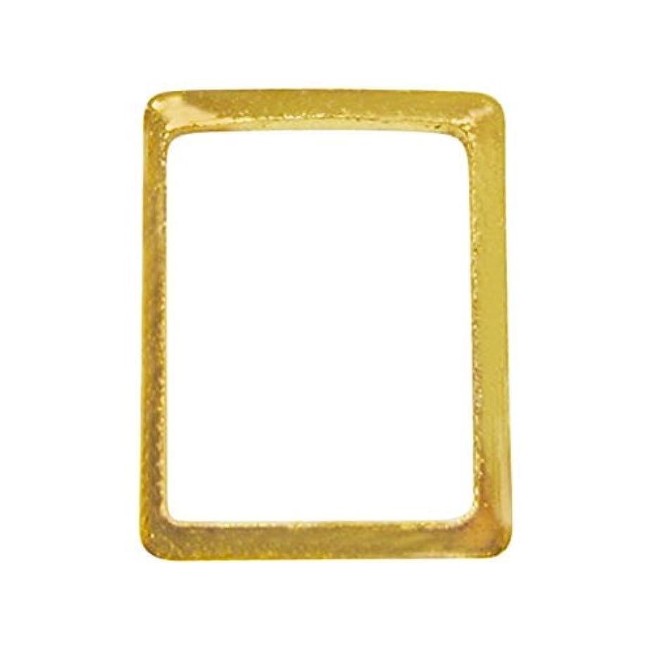 和らげる活発合金サンシャインベビー ジェルネイル シンプル スクエアフレームM(長方形ゴールド) 10P