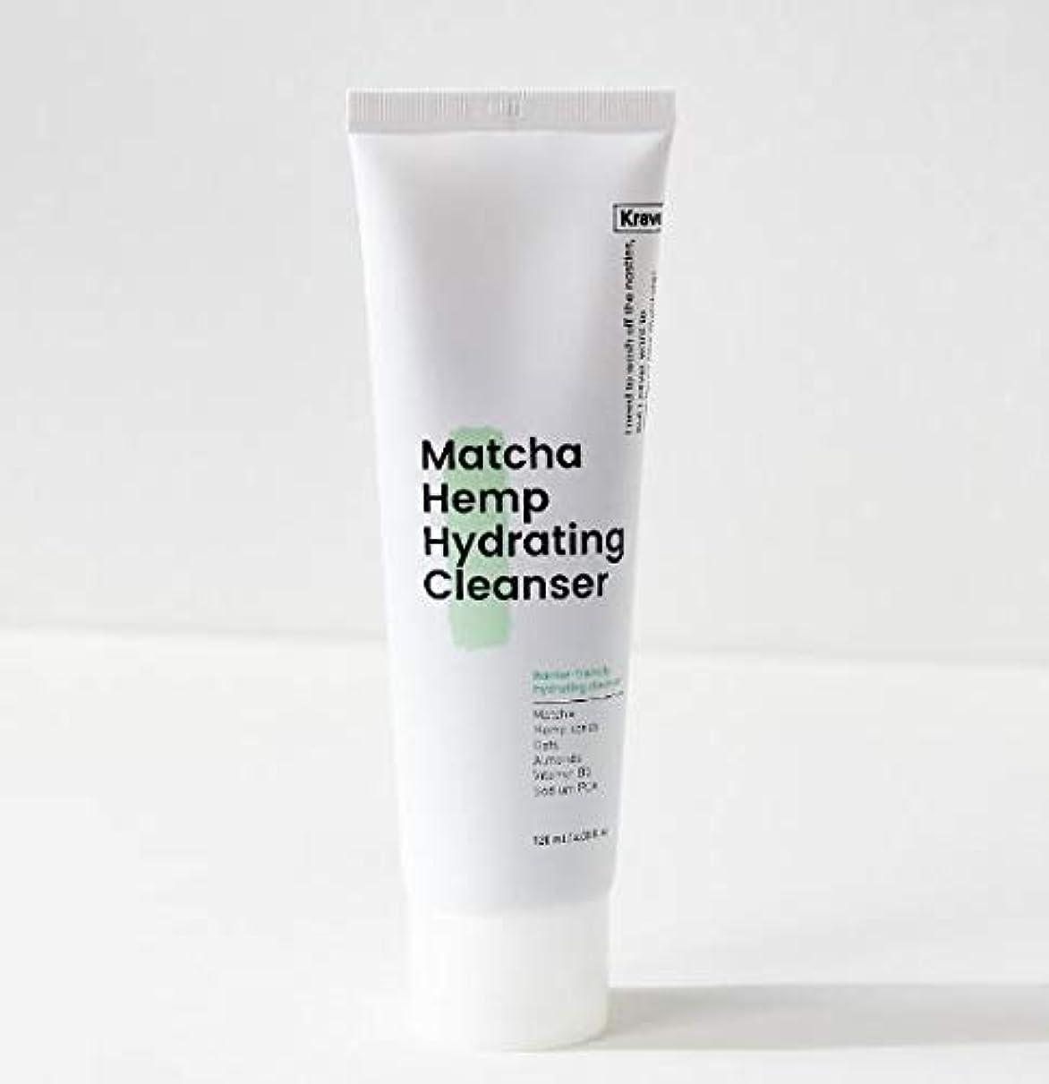 リフレッシュワイプ決済[Krave] Matcha Hemp Hydrating Cleanser 120ml / 抹茶ハイドレイティングクレンザー120ml [並行輸入品]