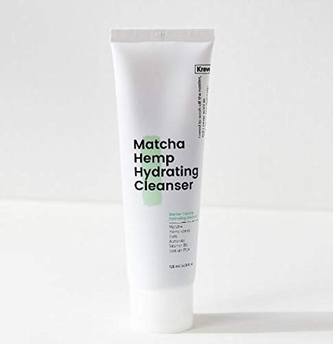 どっちオーバーフローギャロップ[Krave] Matcha Hemp Hydrating Cleanser 120ml / 抹茶ハイドレイティングクレンザー120ml [並行輸入品]